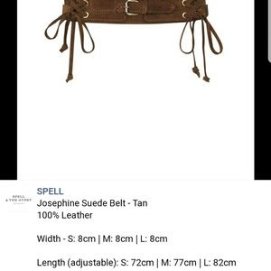 Spell & The Gypsy Collective Accessories - Trading w the lovely Styleyes! Spell JosephineBelt